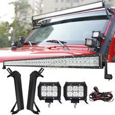 """For Jeep Wrangler TJ/LJ 52"""" 1000W LED Light Bar + 4"""" 18W Pods + Mount Bracket 50"""