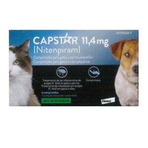 Capstar 11,4 MG Für Hund Und Katze 6 Tabletten Entwurmungen