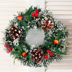 Wall Hanging Christmas Wreath For Xmas Home Party Door Garland Ornament Decor