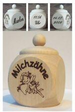 Milchzahndose Zahndose aus Holz mit Schraubgew. u. kostenl. Gravur Motiv Zahnfee
