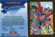SKYBOX THE RETURN OF SUPERMAN #SP1 GOLD FOIL CARD