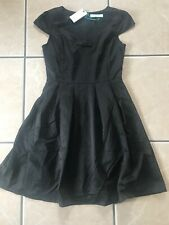 Ladies Embroidery Bow Dress from Fever Clothing. Black UK 10 RRP £95. BNWT