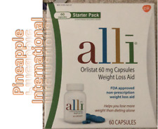Alli Orlistat 60mg Weight Loss Aid 60 Capsules Starter Pack Exp 10/21