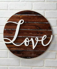 Love Embellished Wall Art Plaque Sign Farmhouse Country Rustic Home Décor