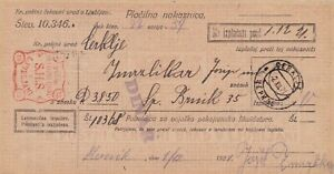 Slowenien, SHS, Jugoslawien, ZAHLUNGSANWEISUNG Cerklje, 1921