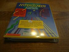 Vintage Rare Scholastic HyperScreen APPLE II MS-DOS Program 1990 GEORGE BRACKETT
