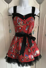 Hell Bunny Nautical Pin Up Rockabilly Dress  Size S Adjustable Straps