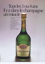 PUBLICITE ADVERTISING 074 1969 TAITTINGER comtes de Champagne