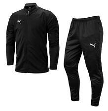 Puma Men Football-Play Track Suit Set Black Casual Jacket Pant Jersey 65681806
