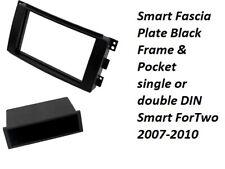 BLACK Smart Car ForTwo 2007-10 Car Stereo Single DIN Fascia Panel CT24MM06