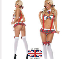 Sexy Women Naughty School Girl Secretary uniform Outfit Fancy Dress Costume 1789