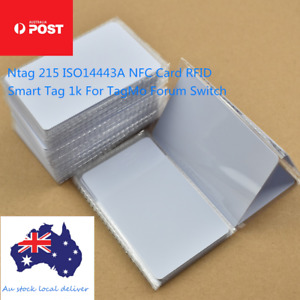 NTAG215 NFC White Pvc Card Tag For TagMo Forum Switch Type2  tags chip