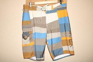"RVCA Mens 32"" Waist Mechanical-Stretch Boardshorts/Surf/Swim"