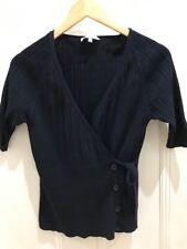 Ladies Navy Veronika Maine Wrap Knit Cardigan Size L