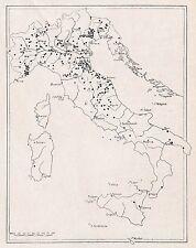 D2495 I trecento Borghi e Borghetti d'Italia - Stampa d'epoca - 1925 old print