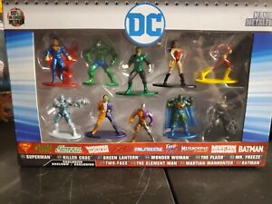 New Jada Toys DC Nano Metalfigs 10 Pack Set Diecast Figures Superman Batman FP20