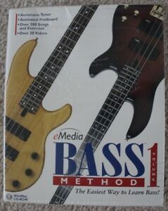 Bass Method volume 1, (Retail, 200+ Beginner Bass Lessons for MAC/PC by eMedia)