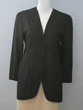 EVAN PICONE Size 4 Black 100% Silk Fully Lined Blazer