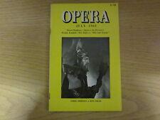 July 1962, OPERA, Forbes Robinson, Michael Mudie, Julius Kapp, Eva Turner.