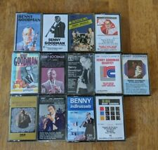 Benny Goodman 13 Cassette Lot Quartet, Let's Dance, Pure Gold, Sing Sing Sing ++
