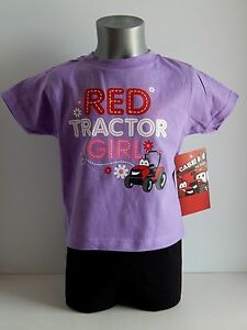 """Case IH """"Red Tractor Girl"""" Girl's Lavender T-Shirt-Size , 3T, 4T or 5T"""