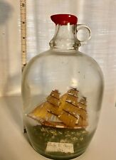 Vintage Ship In A Bottle with Vertical Orientation Charles W. Morgan 1841