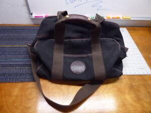 Duluth Pack Medium Duffel Bag Black Brown 16 x 10 x 12 W/ Shoulder Strap VGUC