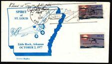 1977 flight Spirit of St Louis, Little Rock - Memphis pilot signed Sc 1710