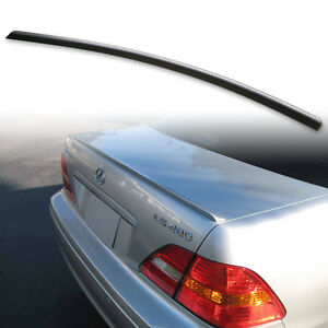 Fyralip Trunk Lip Spoiler For Lexus LS430 LS 3rd Gen XF30 01-06 Unpainted Black