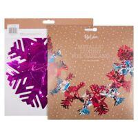 1 - 10 Pack Metallic Christmas Luxury Foil Garland of Snowflakes Shape 2.7m
