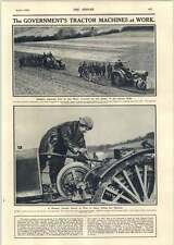 1918 Woman Tractor Driver Wye Kent Soldiers Learning To Plough