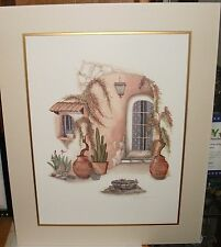 CAROL JEAN BIRD BATH HAND SIGNED IN PENCIL LARGE LITHOGRAPH