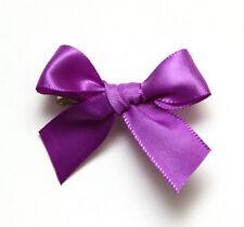 Purple Satin Dog Hair Bow Ribbon Accessory