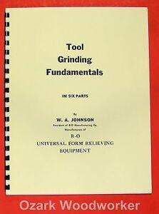 Tool Grinding Fundamentals by R-O Royal Oak Mfg Handbook 0951