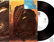 """7"""" - Yello - Vicious Games (TECHNO) ORIGINAL SPANISH PRESS. 1985 - NEW, LISTEN"""