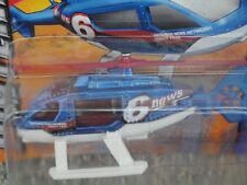 Matchbox 2012 #026/120 News HELICOPTER blue white
