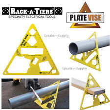 Rack-A-Tiers Triangular Plate Vise for Pipe Conduit Lumber Saw Horse Tool 13355