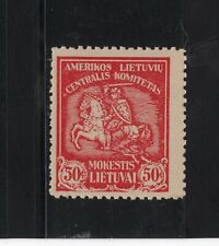 LITHUANIA 1919 CHARITY POSTER STAMP / CINDERELLA
