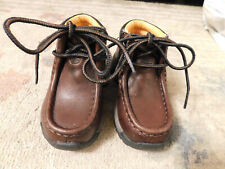 Timberland Kids Toddler sz 6 Brown Leather Hiking Boots Tough Outdoors VGUC Cute