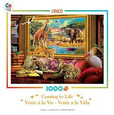 CEACO COMING TO LIFE PUZZLE SAVANNAH COMING TO LIFE J.P. KRASNY 1000 PCS #3382-2