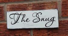 THE SNUG Shabby Vintage Chic Wooden Handmade Sign plaque cozy room