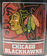 NHL NIB 50x60 ROLLED FLEECE BLANKET FADE AWAY DESIGN - CHICAGO BLACKHAWKS
