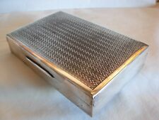 DUTCH OR PORTUGUESE VINTAGE 833 SILVER CIGARETTE BOX & WOOD LINER  344 gr. GROSS