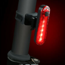 Bike Bicycle USB Rechargeable Rear Light Red 4 Modes LED Tail Lamp