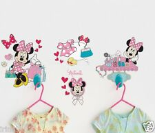 Ready Room Minnie Mouse Dress With Me Clothes Hook & 30 Vinyl Wall Stickers