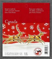 Canada - Booklet of 12 - Christmas, Toronto Santa Claus Parade #2069 (BK298) MNH