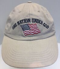 One Nation Under God United States USA Flag Beige Khaki Men's OSFA