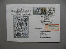 GERMANY BRD, R-cover 1990, spec R-label; 150 Jahre Briefmarken