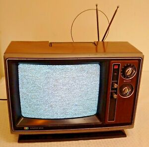 Vintage Sharp 13'' TV Television Retro GAMING Woodgrain WORKS Linytron Plus 1979