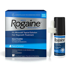 Rogain 5% Topical Solution Liquid Hair Regrowth Treatment for Men 3 Month Supply